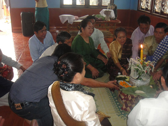 Basi ceremony Laos